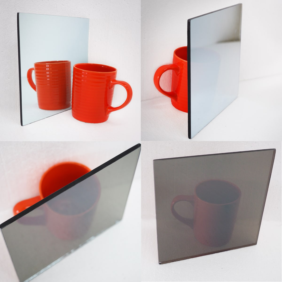Two Way Mirror Mug Sample Glass Testing